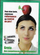 Format CPM (10,5X15 Cm) Publicité Cartonnée Greta Orléans-Tours Guillaume Tell Pomme Fléchette 2scans - Autres