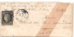 Gard - St Gilles Du Gard. Grille + CàD Type 15. Indice 18=300€ - 1849-1876: Classic Period