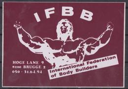 Autocollant, IFBB, Body Builders. - Autocollants