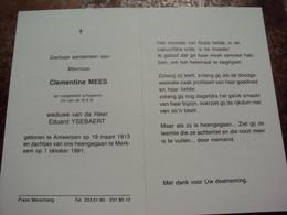 Doodsprentje/Bidprentje Clementine MEES (Wwe E.YSEBAERT) Antwerpen 1913-1991 Merksem  Rustend Schipperin - Religion & Esotericism