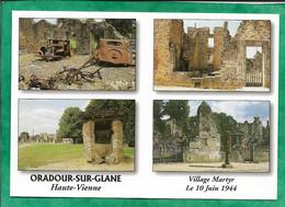 Oradour-sur-Glane (87) 2scans Carcasses De Voitures Citroën Traction Maison Puits Du Champ De Foire Pompe D'essence - Oradour Sur Glane
