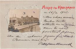 Danemark Denmark - COPENHAGEN -hilsen Fra Kobenhavn Copenhague Cpa Carte Gaufrée Relief Embossed Ecrite En 1902 - Danemark