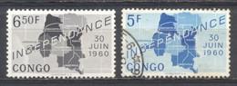 Congo, 1960, Independencia, Usado - Republik Kongo - Léopoldville (1960-64)