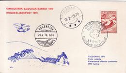 GRÖNLAND  Hundeschlittenpost 1970 - Briefe U. Dokumente