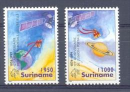 Mmv1042 UPU UNION POSTALE UNIVERSELE NEW MILLENNIUM POST U.P.U. PLANET EARTH SATELLITE SPACE SURINAME 1999 PF/MNH - U.P.U.