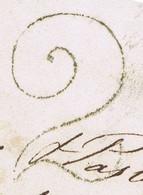"Ireland Maritime Dublin Uniform Penny Post Handstruck ""2"" Very Clear On Consignee's Letter From Bristol Per 'Shamrock' - Vorphilatelie"