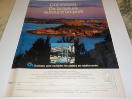 ANCIENNE  PUBLICITE NATURE AUTOUR DU PORT  GRUISSAN 1983 - Autres