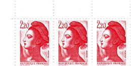 YT 2376 ** - Liberté 2,20 Rouge - Variété Cadre Du Haut Absent - Abarten: 1980-89 Ungebraucht