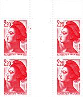 YT 2376 ** - Liberté 2,20 Rouge - Variété 2 Traits Rouges à Droite Du Cadre Case 95 - Abarten: 1980-89 Ungebraucht