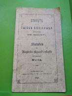 Status De La Caisse Régionale Du Canton, Mersch 1902. 67 Pages - Non Classés