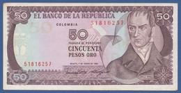 COLOMBIA - P.425b – 50 Pesos Oro 01/01/1986  - VF/XF Serie 51816257 - Colombia