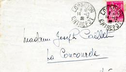 MEURTHE ET MOSELLE - LONGUYON ENTREPOT - TYPE PAIX 1 FRS ROSE - 1849-1876: Classic Period