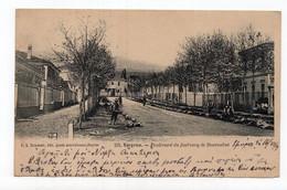1909 TURKEY,SMYRNA,BOULEVARD DU FAUBOURG DE BOURNABAT,AUSTRIAN CARD,ILLUSTRATED POSTCARD,USED - Turchia