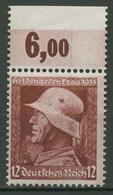 Deutsches Reich 1935 Heldengedenktag Waag. Gummiriffelung 570 Y OR Postfrisch - Ongebruikt