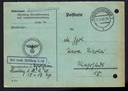EN PROVENANCE DE SONDERSHAUSEN - 1940 - - Cartas