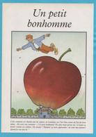♦073♦  UN PETIT BONHOMME *  POMME *  -  PAGE IMAGE ILLUSTRATION - Autres