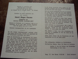 Doodsprentje/Bidprentje Henri,Roger Dauwe (Echtg D.C.NEYT) Wetteren 1929 - 1988    Gew. Beroepsmilitair Luchtmacht - Religion & Esotericism