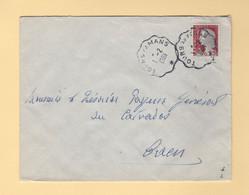Convoyeur - Tours Au Mans -1961 - Marianne De Decaris - Railway Post