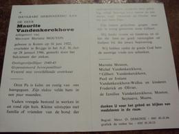 Doodsprentje/Bidprentje  Maurtits Vandenkerckhove (Echtg M.MOUTON) Keiem 1922-1986 Brugge  Gepensioneerd Beroepsmilitair - Religion & Esotericism