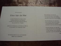 Doodsprentje/Bidprentje  Ellen Van De Wal  Antwerpen 1983-2002 Cursiste Theaterschool Open Living/Dansschool De Willecom - Religion & Esotericism