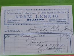 Mamer, Facture Adam Lennig. Hollerich 1927 - Luxembourg