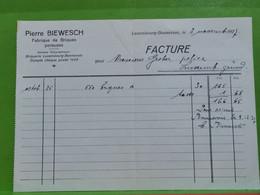 Mamer, Rechnung Pierre Biewesch. Bonnevoie 1927 - Luxembourg