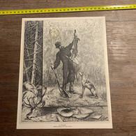 1886 IE La Chasse Dessin Original De Tichon - Non Classés