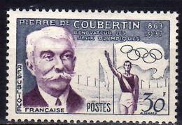 1956 France Olympic Summer Games Melbourne Pierre De Coubertin Olympic Flag MNH** MiNr. 1116/ Yt 1088 - Ongebruikt