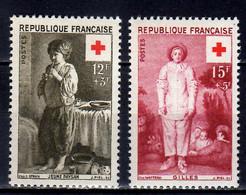 1956 France Red Cross Croix Rouge Arts Painting L. Le Nain Watteau MNH** MiNr. 1117 - 1118 / Yt 1089/1090 - Ongebruikt
