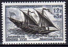 1957 France Day Of Stamp Postage Transport Feluke Jour De Timbre MNH**  MiNr. 1122 Yt 1093 Shipp Sail - Ongebruikt