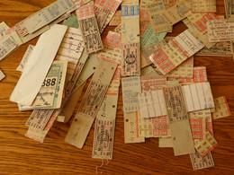 Lot Anciens Ticket Metropolitan 1929/1940 - Europe