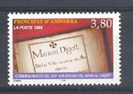 Andorra -Franc 1998 Manual Digest. Y=511 E=532 (**) - Ungebraucht