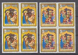 Andorra - 1973, Navidad E=87-88 S=77-78 Bloque (**) - Ungebraucht