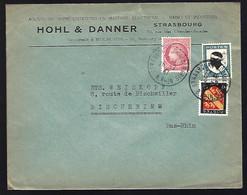 LETTRE DE STRASBOURG - 1947 - CERES DE MAZELIN - BLASONS - - Cartas