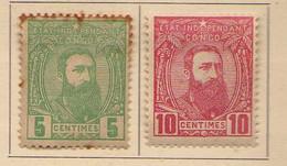 Congo Belge (1887-94) -  5c. 10 C. 25 C..  Leopold II  -    Neufs* - MH - 1894-1923 Mols: Ungebraucht