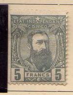 Congo Belge (1887-94) - 5 F...  Leopold II  -    Neufs* - MH - 1894-1923 Mols: Ungebraucht