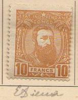 Congo Belge (1887-94) -  10 F. .  Leopold II  -    Neufs* - MH - 1894-1923 Mols: Ungebraucht
