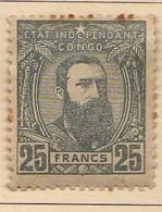 Congo Belge (1887-94) -  25 F. .  Leopold II  -    Neufs* - MH - 1894-1923 Mols: Ungebraucht