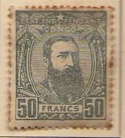 Congo Belge (1887-94) -  50 F. .  Leopold II  -    Neufs* - MH - 1894-1923 Mols: Ungebraucht