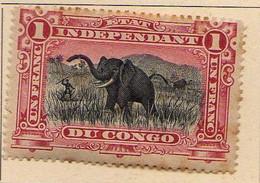Congo Belge (1894-1900) -  1 F.  . Chasse A L'elephant -   Neufs* - MH - 1894-1923 Mols: Ungebraucht