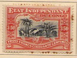 Congo Belge (1894-1900) -   3 F. 50 C.   Village -   Neufs* - MH - 1894-1923 Mols: Ungebraucht