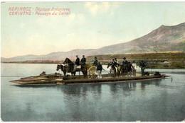 CPA - Grèce - Corinthe Passage Du Canal - Attelage - Griekenland