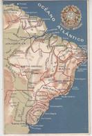 Landkarte Von Brasilien - 1909 Reliefkarte - Landkaarten