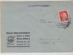 Brief Von Der Klever Nährmittelfabrik Aus KLEVE 2 22.?.44 - Covers & Documents