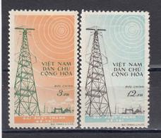 Vietnam Nord 1959 -Construction Of The Radiostation Me-Tri, Hanoi, Mi-Nr. 102/03, MNH** - Viêt-Nam