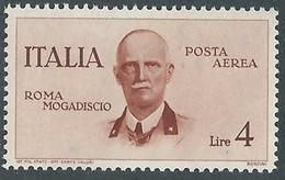 1934 REGNO POSTA AEREA VOLO ROMA MOGADISCIO 4 LIRE MNH ** - RE23-9 - Luftpost