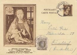 Belgien: 1939: Brugge Nach Düsseldorf-Ganzsache - Unclassified