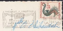 MONACO Lot De 3 CPSM Postées En 1961-1963-1964   Y.et.T. Num 540-542-543 Pour 78 VILLENNES Sur SEINE - Collections & Lots