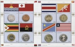 Nations-Unies United Nations New York 1416/23 Drapeaux, Flag, Monnaie, Lion, Rhinoceros - Francobolli