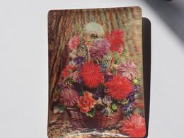3d 3 D Lenticular Stereo Postcard Spring Bouquet  A 212 - Cartoline Stereoscopiche